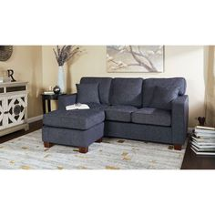 Shop for Copper Grove Cleome Reversible Chaise Sectional Sofa. Get free delivery at Overstock - Your Online Furniture Shop! Get in rewards with Club O! Brown Sectional Sofa, Sofas For Small Spaces, U Shaped Sectional, Home Comforts, Home Interior Design, Living Room Designs, Living Room Furniture, Home Decor, Pillows
