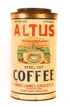 Vintage Coffee Can Coffee Tin Vintage Coffee Signs Coffee