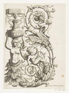 """""""Ornemens peints dans les Appartemens des Tuilleries / dessinez et gravez par Berain / A Paris chez N. Langlois"""", v. 1690 – Londres, Victoria & Albert Museum"""