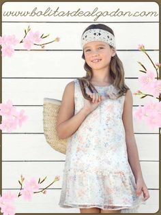 Vestido de gasa para niña primavera-verano 2014 Bolitas de Algodón