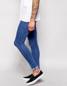 Dr Denim | Dr Denim Jeans Plenty High Spray On Extreme Super Skinny Light Stone Wash at ASOS