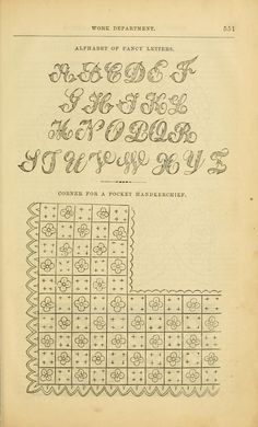 Other titles: Godey's lady's book and magazine; Godey's lady's book for Godey's magazine and lady's book. Embroidery Letters, Embroidery Stitches, Alphabet Quilt, French Typography, Book Log, Fancy Letters, Les Sentiments, Book And Magazine, Happy Birthday Greetings