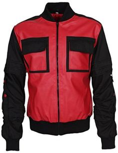 Back to The Future Michael J Fox Celebrity Leather Jacket: Amazon.co.uk: Clothing