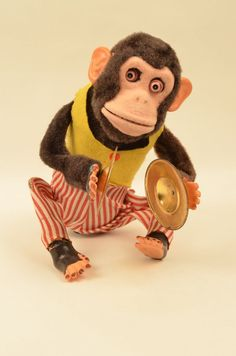 Vintage Musical Jolly Clapping Chimp Monkey Cymbals Toy.  Learn about your collectibles, antiques, valuables, and vintage items from licensed appraisers, auctioneers, and experts. Free Antique Roadshow Appraisal Events at BlueVault http://www.BlueVaultSecure.com/roadshow-events-bluevault-san-diego.php
