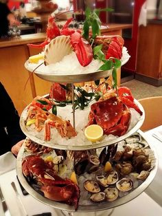 Freaking gorgeous seafood platter my friend had in Luxembourg! !!