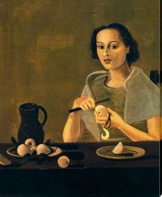 The girl cutting apple, 1938 ,  by  Andre Derain french 10 June 1880 – 8 September 1954)