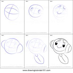 How to Draw Tympole from Pokemon printable step by step drawing sheet : DrawingTutorials101.com