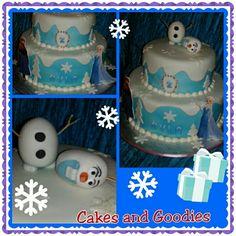 Happy Birthday Olaf cake