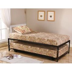 black metal twin size hirise day bed daybed frame u0026 pop up trundle new in home u0026 garden furniture beds u0026 mattresses beds u0026 bed frames