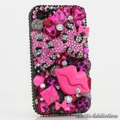 "Style 437 This Bling case can be handcrafted for iPhone 4/4S, 5, 5S, and 5C. The current price is $79.95 (Enter discount code: ""facebook102"" for an additional 10% off during checkout) *Click image for direct link"