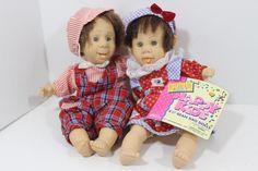 RETIRED Gi Go Toys My Pals Laurel Dolls Happy Kids Doll-2 DOLLS-RED & WHITE #Gigo