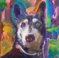 Dog Pop Art portrait by Howie Green