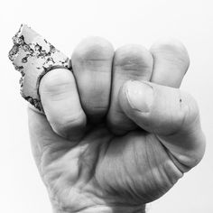 Raw power, casted aluminum ring by Viktorija Domarkaite.