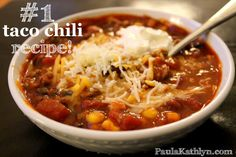 The BEST Taco Chili Crockpot Recipe!!!