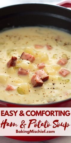 This healthy ham and potato soup is pure comfort food in a bowl. Easy fast and – Mary William This healthy ham and potato soup is pure comfort food in a bowl. Easy fast and This healthy ham and potato soup is pure comfort food in a bowl. Easy fast and Healthy Soup Recipes, Seafood Recipes, Crockpot Recipes, Cooking Recipes, Healthy Food, Healthy Comfort Food, Healthy Vegetables, Vegetarian Cooking, Thai Recipes