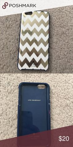 Kate spade iPhone case Gold and blue kate spade Accessories Phone Cases