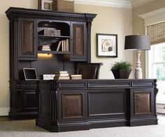 Shop this hooker furniture brookhaven peninsula home office set from our top selling Hooker Furniture home office sets. LuxeDecor is your premier online showroom for home office furniture and high-end home decor. Cool Office Desk, Home Office Desks, Home Office Furniture, Office Decor, Living Room Furniture, Office Ideas, Office Designs, Executive Office Furniture, Office Shelving
