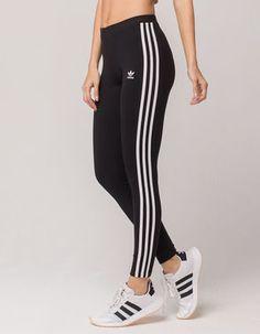 ADIDAS 3 Stripes Womens Leggings Adidas Striped Pants 87e6f435c15