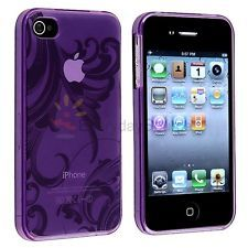 $2.69 - not sure how i feel about it being clear...Clear Purple Flower TPU Hard Skin Soft Gel Case Cover for iPhone 4 G Gen 4S USA