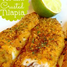 Tortilla Crusted Tilapia @keyingredient #bread