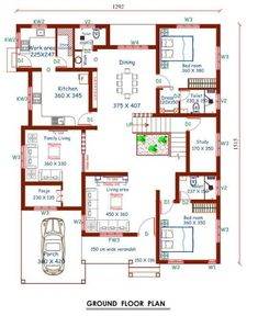 4 Bedroom Duplex House Plans Awesome 4 Bedroom Stunning Mix Designed Modern Home In Free 2bhk House Plan, Free House Plans, House Layout Plans, Duplex House Plans, Model House Plan, Free Floor Plans, Family House Plans, 40x60 House Plans, Bungalow Floor Plans
