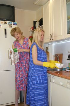 Nylons, Blouse Nylon, House Maid, Staff Uniforms, Housecoat, Rubber Gloves, Smocking, Apron, Overalls