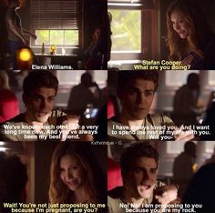 Elena Williams & Stefan Cooper :D Hahaha I love how over the top and mockingly dramatic they were in this scene :P