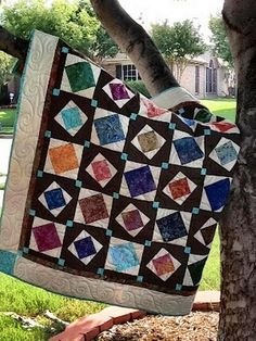 Check out the Jiggity Charm Pack Quilt for a fun twist on the traditional quilt block pattern. Charm Pack Quilt Patterns, Charm Pack Quilts, Jelly Roll Quilt Patterns, Charm Quilt, Star Quilt Patterns, Pattern Blocks, Lap Quilts, Scrappy Quilts, Quilt Blocks