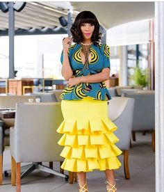 The Trending and most Inspired Ankara styles every Fashionista should have in her closet at the moment. African Print Dresses, African Fashion Dresses, African Dress, Fashion Outfits, Ghanaian Fashion, Ankara Fashion, African Prints, Style Fashion, Fashion Ideas