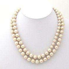 Classy Light Beige 10 mm 8 mm Long Cotton Pearl by MiyabiGrace