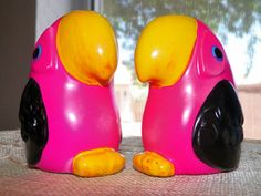 Hot Pink Macaw Pair Salt and Pepper by DesertBlossomVintage, $10.00