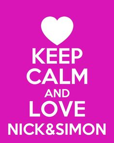i dunno who simon is but who cares I LOVE NICK!