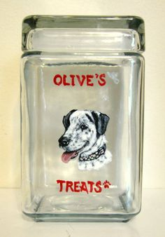 Custom Kitchen Canister, Dog Treat Jar, Hand Painted Pet Portrait, Dog  Biscuit Holder