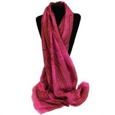 Scarves Wholesale Gothic Swirls Pinks - Pink Gothic Scarves  #Hip_Angels_Scarves_Wholesaler #Scarves_Wholesaler  #Scarves_Pink #Pink_Scarves