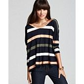 Soft Joie Tee - Fawn Multi Color Stripe