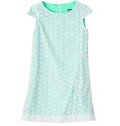 Shift in white eyelet!  Hello Summer! #missbtween #tweens #preppystyle #girlsdresses