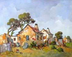 תוצאת תמונה עבור conrad theys Derelict House, Farmhouse Paintings, South African Artists, Landscape Art, Painting & Drawing, Rustic Cottage, Illustration, Art Drawings, Beautiful Pictures