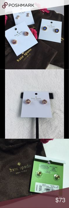Bundle 😍 Kate Spade Earrings ($108!) Brand New with tag. 3 gorgeous everyday wear Kate Spade ♠️ Studs! kate spade Jewelry Earrings