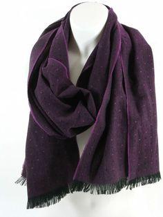 FRAAS Herrenschal Damenschal bordeaux gepunktet Herbst Winter Geschenk Schal