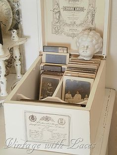 pictures box...great way to display photos you don't have room for on the walls