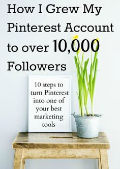 If you want to learn how to grow your Pinterest followers and turn Pinterest into one of your top marketing tools, this guide is for you! Click to grab your copy of 'How I Grew My Pinterest Account to Over 10,000 Followers'.