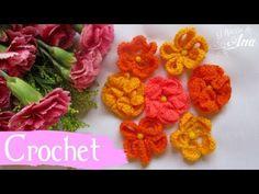 Servilleta con flores tejidas con ganchillo, modelos de flores muy fáciles para hacer en crochet