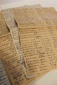 "Tallies of Jews rounded up in Paris. The often chilling records are being exhibited in the Paris Jewish district's city hall to coincide with the 70th anniversary of the two-day ""Vel d'Hiv"" roundup, named for the Velodrome d'Hiver, or Winter Velodrome. Many thousands were rounded up on July 16 and 17, 1942, then holed up in miserable conditions in the stadium, just a stone's throw from the Eiffel Tower, before being bused to the French camp at Drancy and then taken by train to Auschwitz."