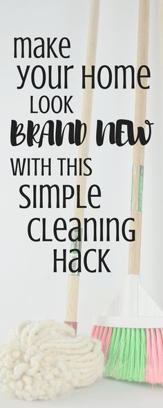 Make your home look brand new all over again with this simple cleaning hack! You don't need expensive cleaning products or a ton of stuff. I am so glad I discovered this simple cleaning hack - it's saved me tons of time!