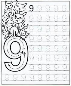 New System-Suitable Numbers Line Study - Preschool Children Akctivitiys Preschool Writing, Numbers Preschool, Preschool Education, Preschool Printables, Preschool Lessons, Preschool Learning, Writing Numbers, Math Numbers, Kindergarten Math Worksheets