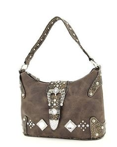 $49.99 Black Western Crocodile Rhinestone Buckle Hobo Handbag - Show some bling bling wearing this beautiful Western Crocodile Rhinestone Buckle Hobo Handbag ! http://www.amazon.com/dp/B005K075F8/?tag=pin0ce-20