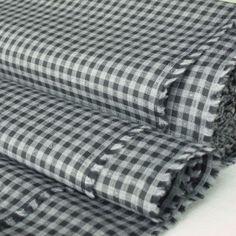 Grey & Black Cotton Check