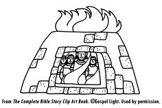 Bible fiery furnace on pinterest daniel o 39 connell bible for Daniel and the fiery furnace coloring page