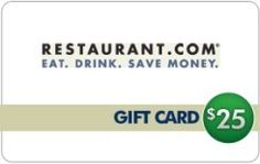 25.00 Food Gift Card free