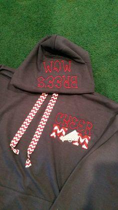 Cheer mom hooded sweatshirt by SSouthernMonogram on Etsy